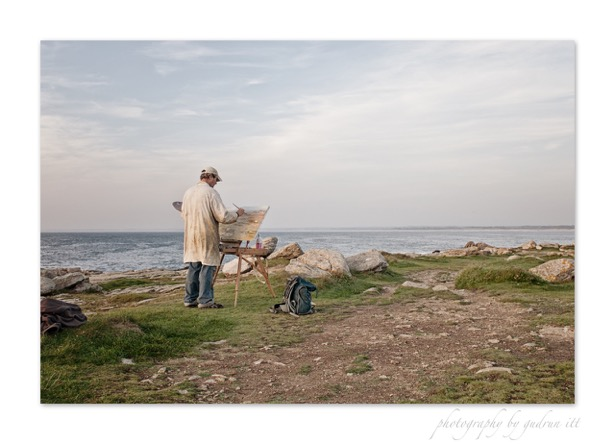 Maler in der Bretagne  - Route de Peintre