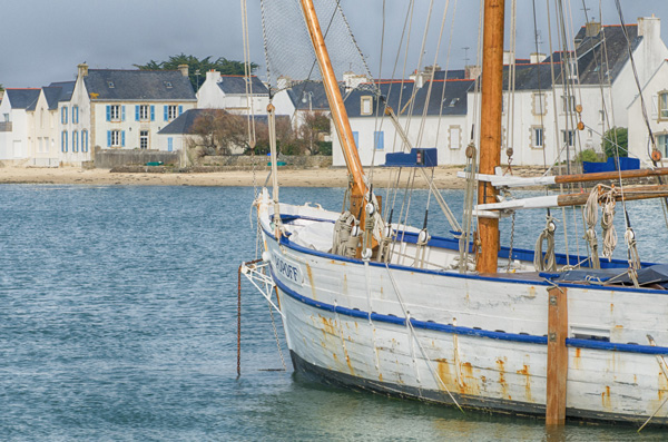 Segeln im Segelboot auf Île Tudy - Fotografie Gudrun Itt