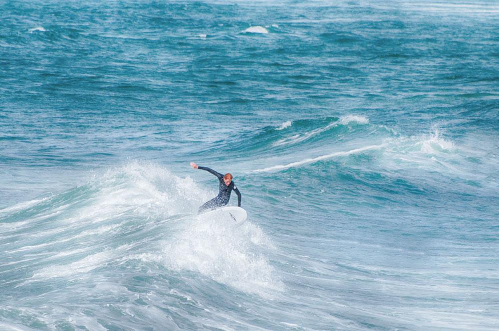 Surfer an  la Torche , der Spitze der Fackel - Fotografie Gudrun Itt ©